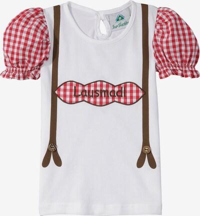 Isar-Trachten Trachtenshirt mit Schriftzug in weiß, Produktansicht