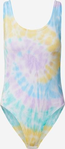 Urban Classics Shirt Bodysuit 'Tie Dye' in Mixed colors