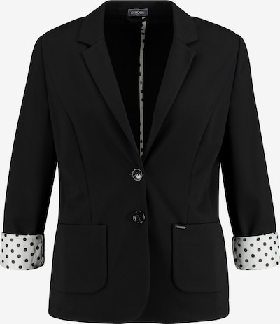 SAMOON Blazer in schwarz / weiß, Produktansicht
