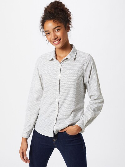 CRAGHOPPERS Hemd 'NosiLife Verona' in grau / weiß: Frontalansicht