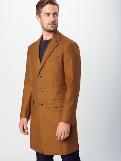 Rudeninis-žieminis paltas 'WOOL CASHMERE BLEND HERRINGBONE TOPCOAT' iš Banana Republic , spalva - ruda, Modelio vaizdas