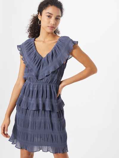 Y.A.S Koktejlové šaty 'YASSYDNEY SL MIDI DRESS - SHOW' - safírová: Pohled zepředu