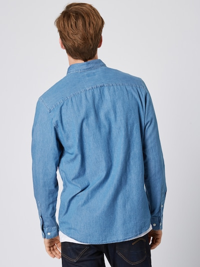 SELECTED HOMME Overhemd 'Collect' in de kleur Blauw denim: Achteraanzicht