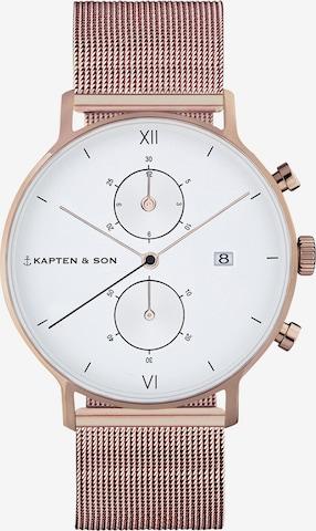 Orologio analogico 'Small Chrono Mesh' di Kapten & Son in bronzo