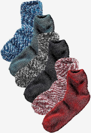 LAVANA Socken in blau / grau / rot, Produktansicht