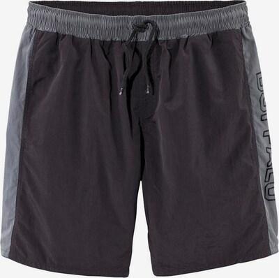 BUFFALO Lange Badeshorts in grau / schwarz, Produktansicht