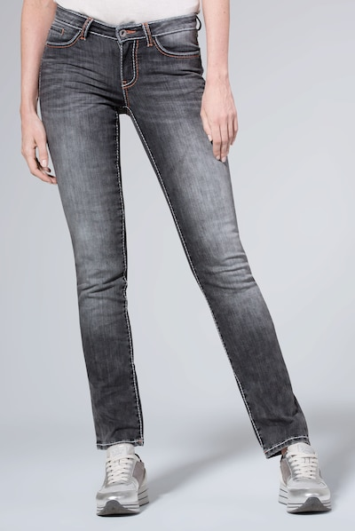 Soccx Jeans in grey denim, Modelansicht