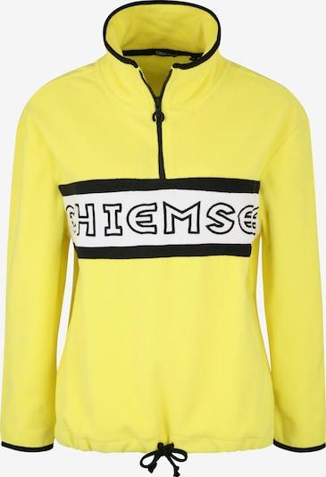CHIEMSEE Sporta svīteris pieejami dzeltens / melns: Priekšējais skats