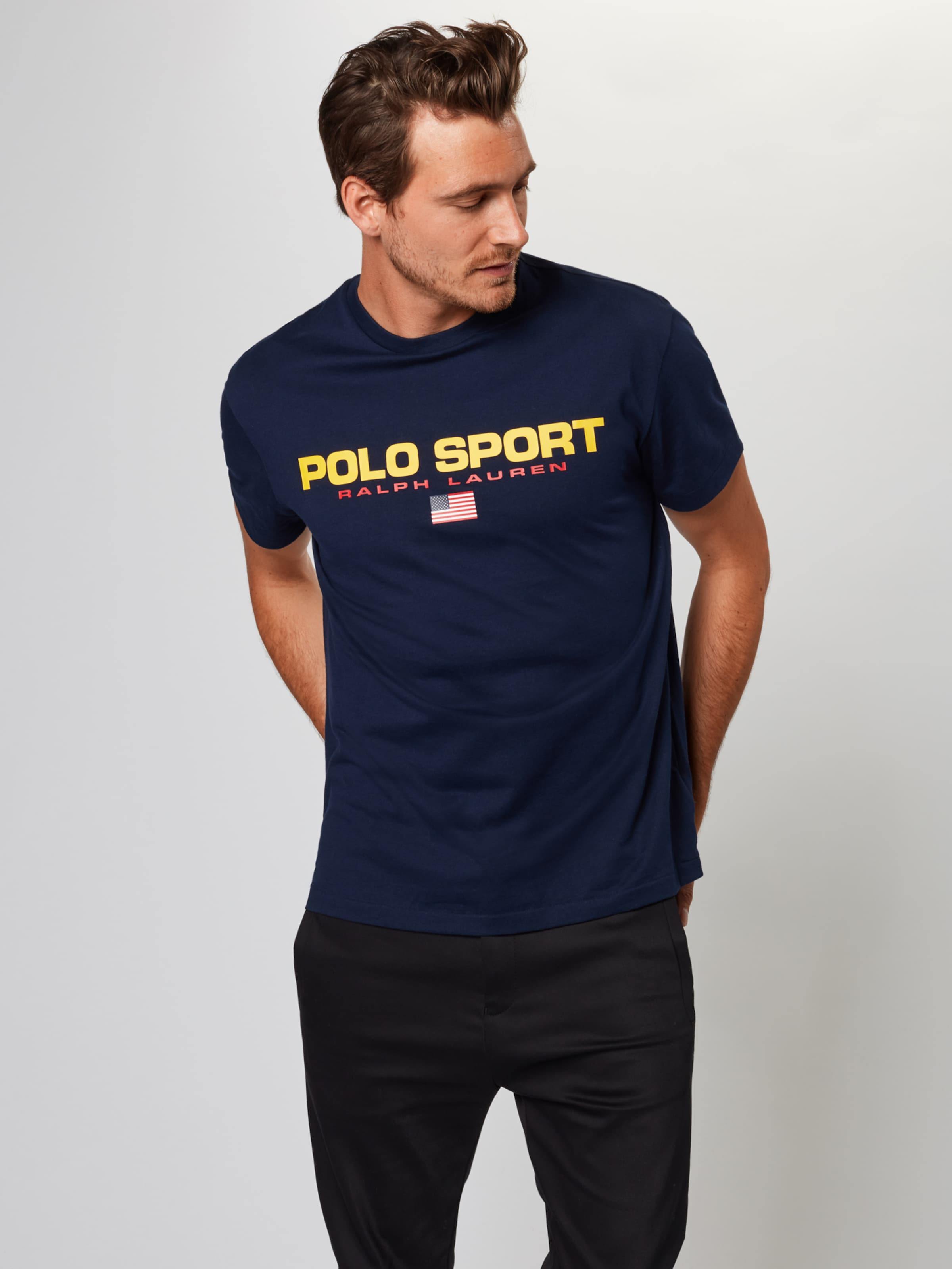 1 In Jersey Ralph Lauren Polo ssl tsh' NavyGelb '26 Shirt kiuZTPXO