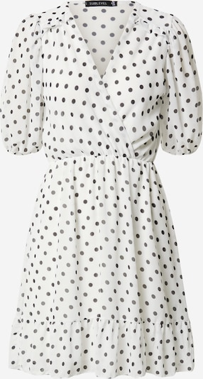 Sublevel Letnia sukienka w kolorze czarny / białym: Widok z przodu