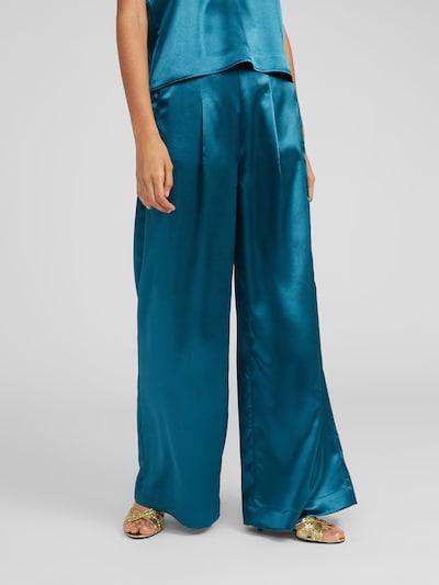 EDITED Pantalon à pince 'Manaba' en pétrole, Vue avec modèle