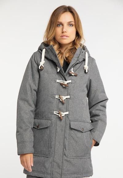 DREIMASTER Manteau mi-saison en gris, Vue avec modèle