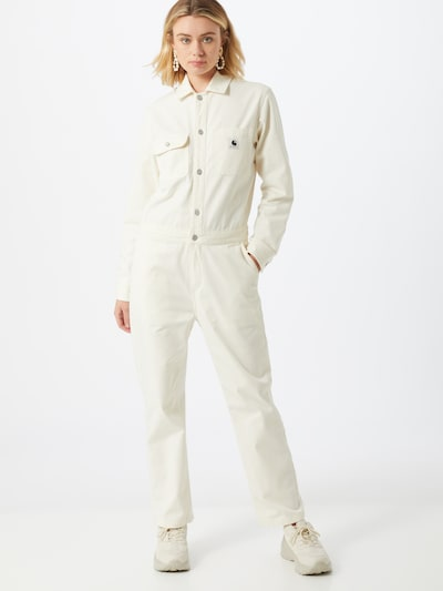 Carhartt WIP Overall 'W' Tara Coverall' in weiß, Modelansicht