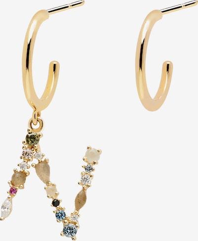P D PAOLA Ohrring 'Letter N Earrings' in gold / mischfarben, Produktansicht
