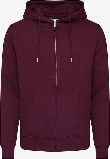 !Solid Sweatshirtjacke  'Morgan Zip' in weinrot, Produktansicht