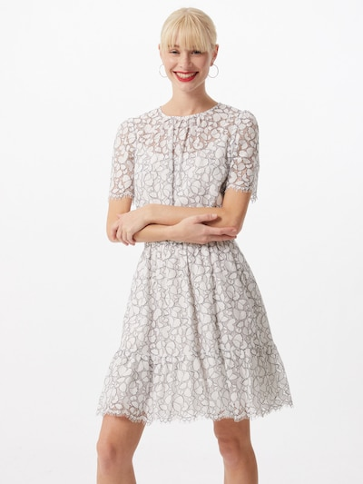 MICHAEL Michael Kors Letní šaty 'Flounce' - černá / bílá: Pohled zepředu