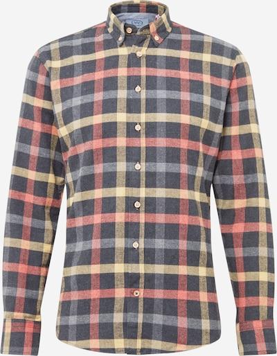 Kronstadt Skjorta 'Dean' i ljusgul / grå / mörkgrå / blandade färger / lax, Produktvy