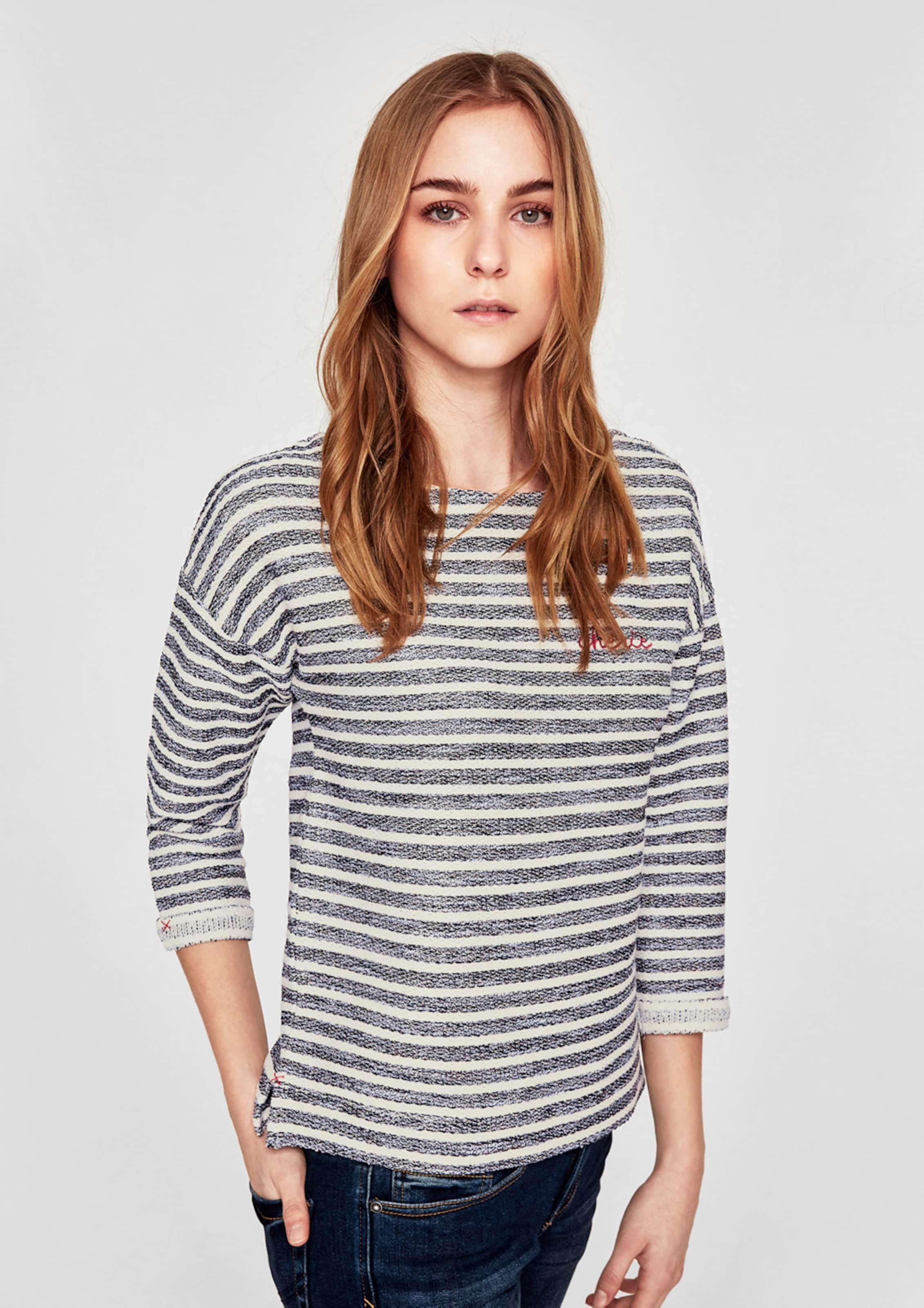 s.Oliver RED LABEL Sweatshirt mit Streifen Authentisch Footaction Günstiger Preis Auslass Bester Verkauf YieyM