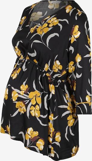 QUEEN MUM Bluse in gelb / hellgrau / schwarz, Produktansicht
