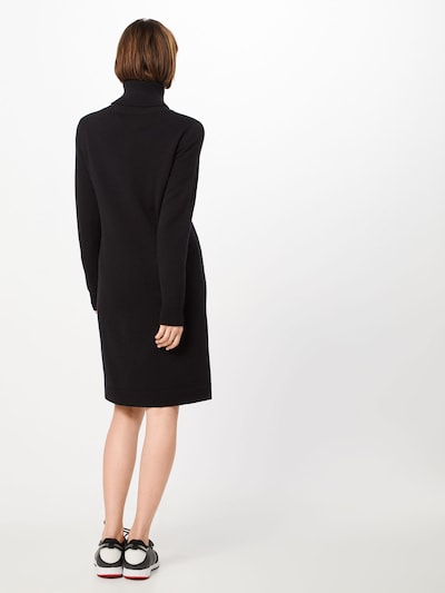 BOSS Robes en maille 'Wabelletta' en noir: Vue de dos