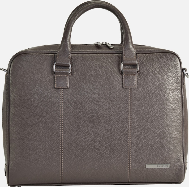 SAMSONITE Equinox Aktentasche Leder 39 cm Laptopfach
