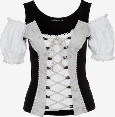 STOCKERPOINT Trachtenshirt in beige / schwarz, Produktansicht