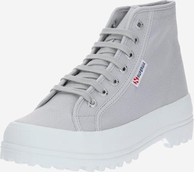 SUPERGA Schnürstiefelette '2341-Cotu' in grau / weiß: Frontalansicht