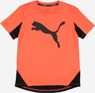 PUMA Ikdienas krekls pieejami oranžsarkans / melns, Preces skats