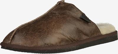 SHEPHERD OF SWEDEN Pantoufle en marron, Vue avec produit