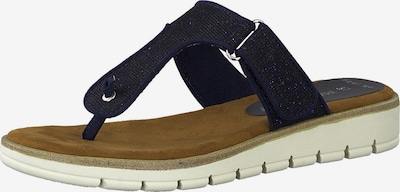MARCO TOZZI Teenslipper in de kleur Navy, Productweergave