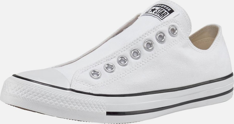 CONVERSE Sneaker 'Chuck Taylor All Star Slip Ox' in weiß: Frontalansicht