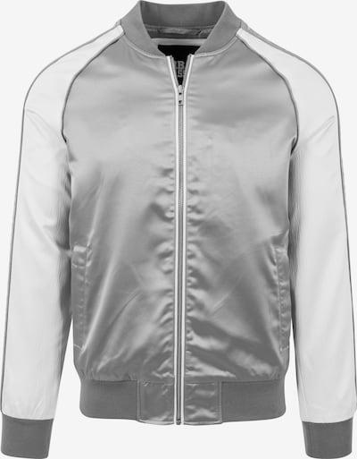 Urban Classics Tussenjas in de kleur Zilver / Wit, Productweergave