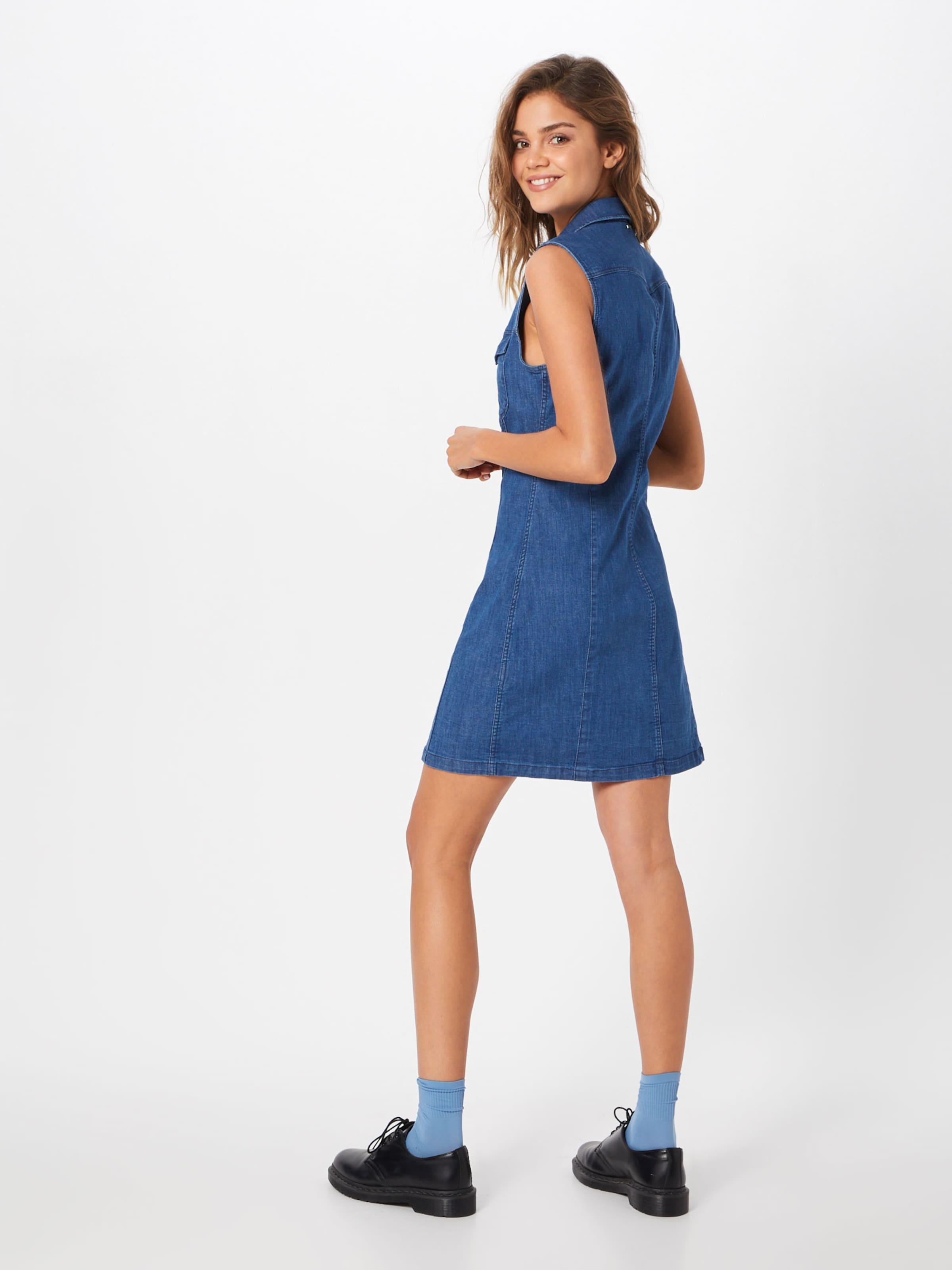 Kleider Sless' 'tacoma G Denim Raw In Slim star Dress Blue FlJKT1c3