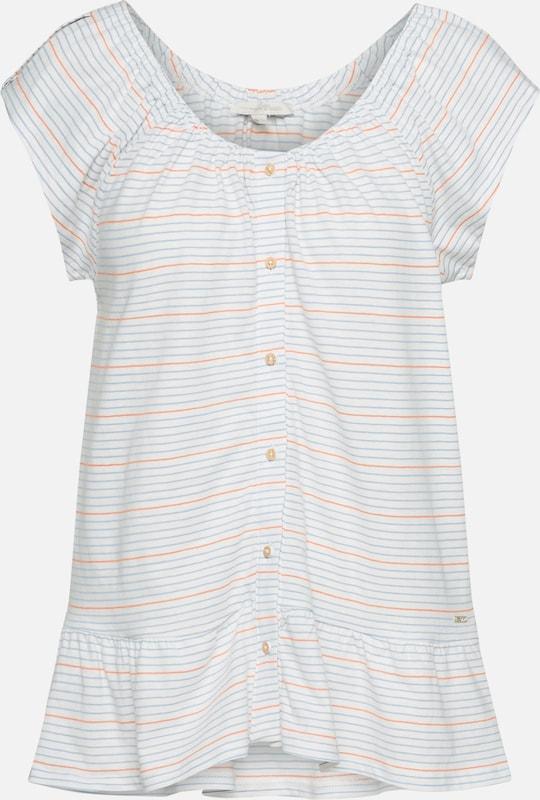 Tailor Blanc Bleu Tom En grisOrange Denim shirt T Cassé OXiTwulPkZ