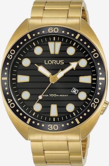 LORUS Uhr 'RH922LX9' in gold / schwarz, Produktansicht