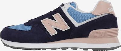new balance Sneakers laag 'WL574' in de kleur Navy / Lichtblauw / Rosa: Vooraanzicht