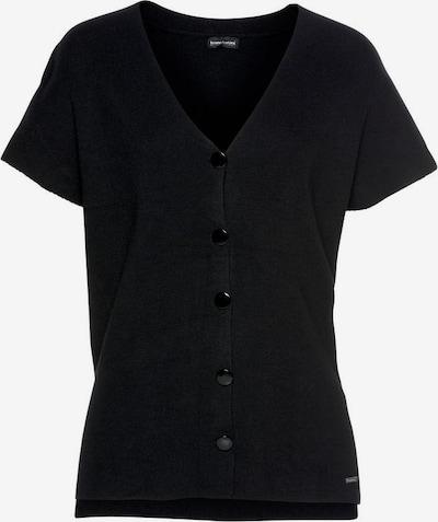 BRUNO BANANI Kurzarmcardigan in schwarz, Produktansicht