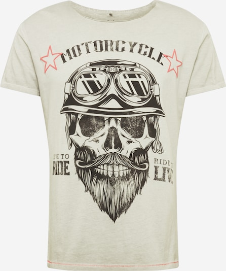 Key Largo T-Shirt 'MT BEARDED BIKDER' in silbergrau, Produktansicht