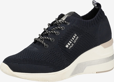 MUSTANG Sneaker in nachtblau / weiß, Produktansicht