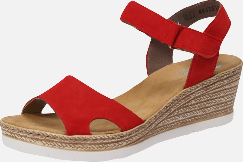 RIEKER Sandalen in beige rot | ABOUT YOU 8NXPF