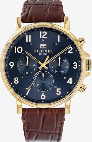 TOMMY HILFIGER Analog Watch 'Dressed Up' in Brown