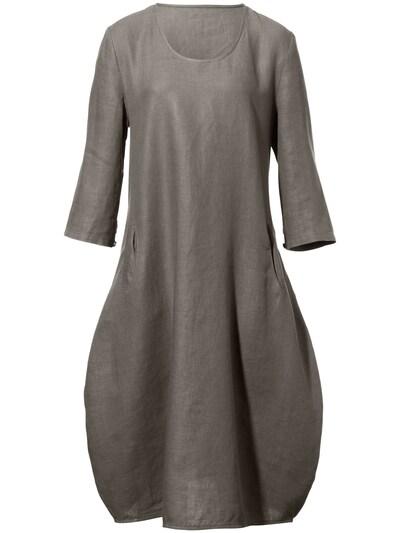 Anna Aura Leinenkleid in taupe, Produktansicht