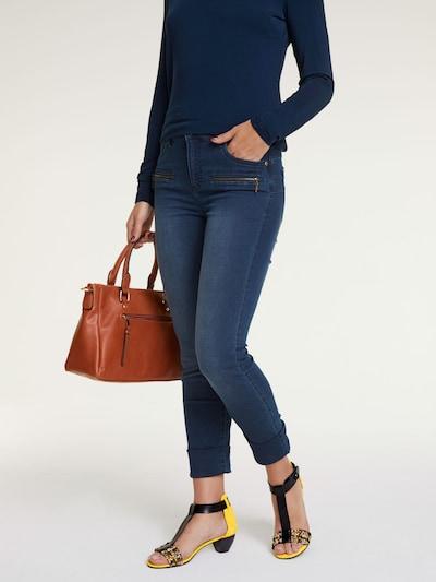 heine Bauchweg-Jeans in blue denim, Modelansicht