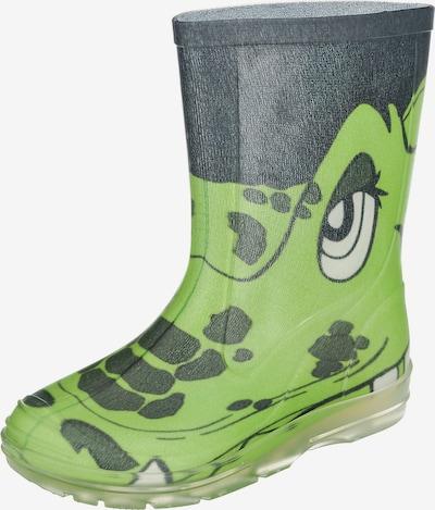 BECK Gummistiefel 'Croco' in hellgrün / dunkelgrün, Produktansicht