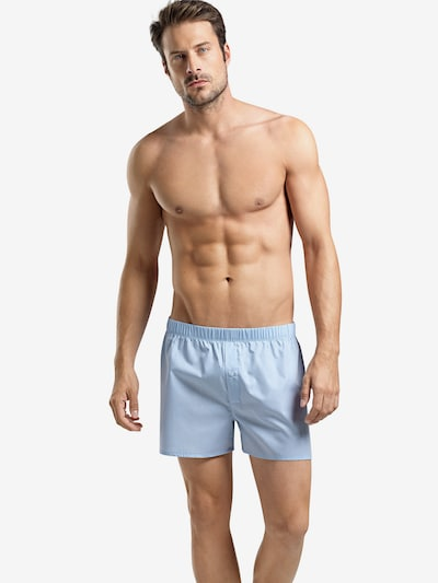Hanro Boxershorts ' Fancy Woven ' in himmelblau: Frontalansicht
