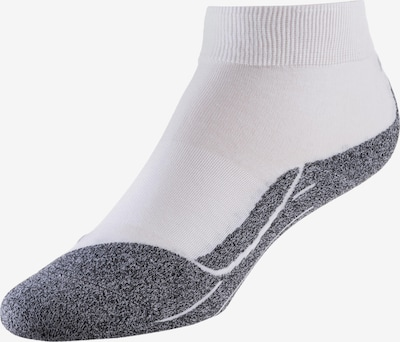 FALKE Athletic Socks 'RU4 Light' in mottled grey / White, Item view