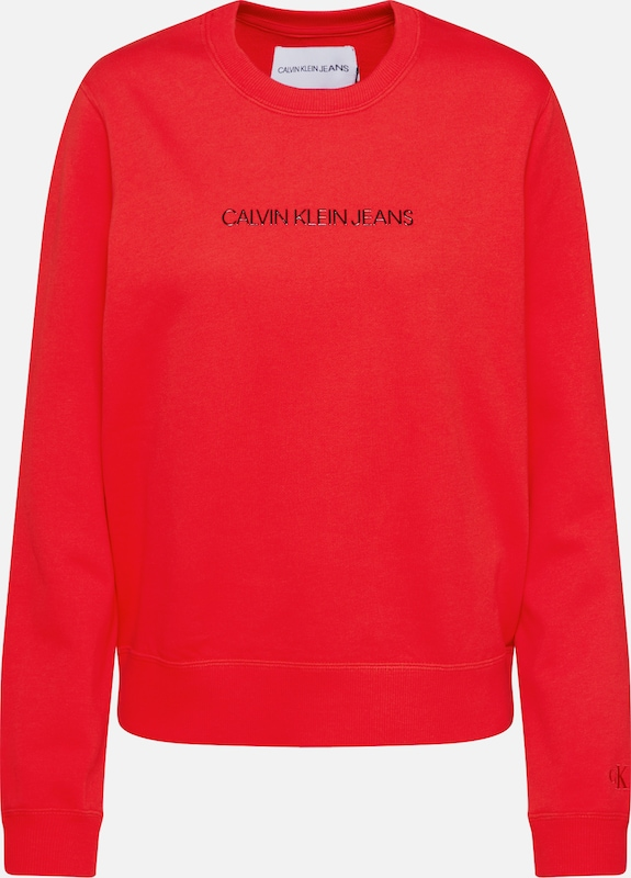 Calvin Klein Jeans Sweatshirt 'INSTITUTIONAL' in rot, Produktansicht