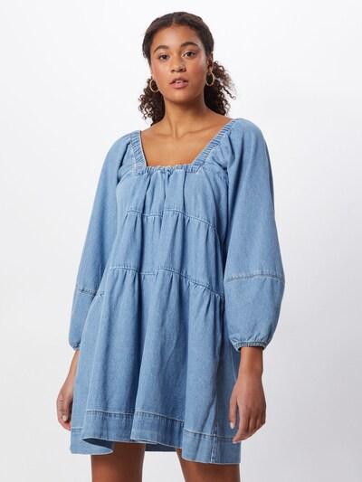 Free People Jeanskleid  'BABYDOLL' in blue denim, Modelansicht