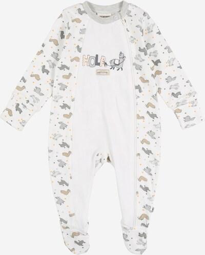 Pijamale JACKY pe bej / gri / alb, Vizualizare produs