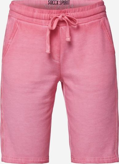 Soccx Sweat-Bermuda mit Seitentape in rosa, Produktansicht